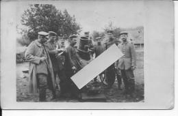Mortier Allemand Minenwerfer De 250mm Et Ses Servants 1 Carte Photo 1914-1918 14-18 Ww1 Wk1 - Oorlog, Militair