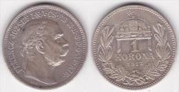 HONGRIE : 1 KORONA 1912 Argent Superbe (voir Scan) - Ungheria