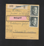 Dt. Reich Paketkarte 1943 Jenbach Dringend - Duitsland