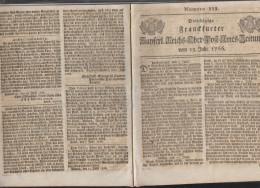 Frankfurter Ober-Post-Amtszeitung 1766 - Historische Dokumente