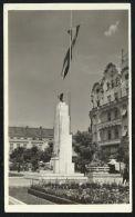ROMANIA HUNGARY Nagyvarad / Oradea -national Flag,monument,real Photo Postcard - Roemenië