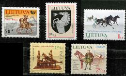 (cl 17 - P30) (lot 2) Lituanie ** (ref. Michel Au Dos) Lot De 5 Tbres  - Cavaliers - - Lithuania
