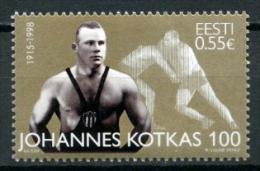 Johannes Kotkas 100 Wrestler Olympic Gold Of Estonia 2015 MNH Stamp - Estonia