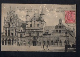 Belgium Malines Hote De Ville Carte Postale Vintage Original Postcard Cpa Ak (W4_570) - Mechelen
