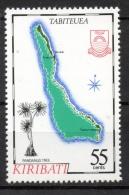 Kiribati 1987 - Cartina Isola Tabiteuea Map Of The Island Pandanus Tree Alberi Trees MNH ** - Kiribati (1979-...)