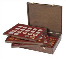Lindner 2494-10 Echtholzkassette CARUS (für Münzen Mit 25,75 Mm Ø, Z.B. 2 €) - Supplies And Equipment