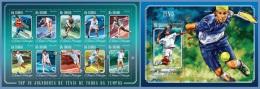st14618ab S.Tome Principe 2014 Tennis 2 s/s