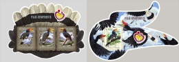 st14620ab S.Tome Principe 2014 Unusual Shape Rhinoceros hornbill 2 s/s