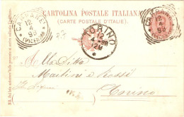 CARTOLINA POSTALE ITALIANA (CARTE POSTALE D'ITALIE) ANNULLO POSTALE TONDO RIQUADRATO CARPANE'(VICENZA) TIPO G PUNTI 7 - Libye