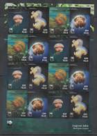 PALAU , 2014, MNH, WWF,JELLYFISH, SHEETLET OF 4 SETS - Other