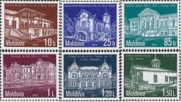 Moldova Moldawien 2011 MNH ** Mi. Nr. 732-737 Architecture Definitiv Issue - Moldavië