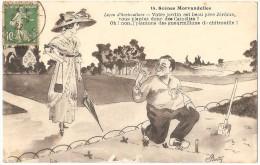 Dépt 58 - Scènes MORVANDELLES - Leçon D´horticulture (jardin, Citrouille, Folklore, Patois, Morvan) - Illustrateur Berty - Non Classés