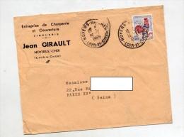 Lettre Cachet Noyers Sur Cher - Storia Postale