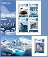 slm14711ab Solomon Is. 2014 Antarctica Penguin 2 s/s