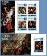 slm14717ab Solomon Is. 2014 Painting Peter Paul Rubens 2 s/s