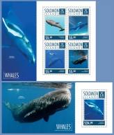 slm14720ab Solomon Is. 2014 Whales 2 s/s