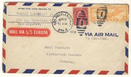 USA Brief 1935 nach Deutschland