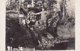 Photocarte Allemande- CANON 21 Cm /Stellung (Position) Militaire Allemand - FRANCE Ou BELGIQUE !???  (guerre 14-18) - Oorlog 1914-18