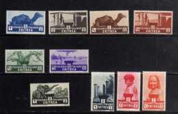 COLONIE ITALIANE ERITREA 1933 AFRICAN SUBJECTS - SOGGETTI AFRICANI SERIE COMPLETA COMPLETE SET MNH - Eritrea