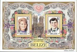 Belize Block84 (kompl.Ausg.) Postfrisch 1986 Hochzeit Prinz Andrew + Sarah - Belize (1973-...)