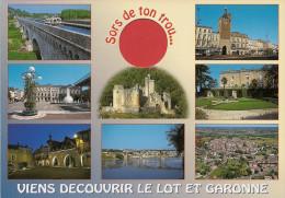 47 -  Carte à Trou, LOT ET GARONNE (Agen, Villeneuve, Marmande, Bonaguil, Fumel, Castillonnès, Tonneins, Montflanquin) - France