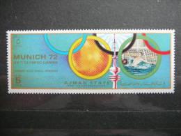 Ajman Olympic Games Munich 1972 ** MNH  #  Water-Polo - Estate 1972: Monaco