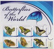 MICRONESIA 6 V. SHETT NUOVO MNH BUTTERFLIES FARFALLE MARIPOSA PAPILLON - Farfalle