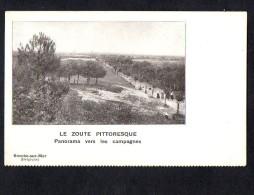 Belgium Zoute Panorama Onkelinx Signed Carte Postale Vintage Original Postcard Cpa Ak (W4_615) - Knokke