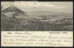 ROMANIA HUNGARY 1926 Deva -Panorama, General View Of Town,fortress - Rumänien
