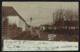 ROMANIA HUNGARY  1900 Marosillye,Ilia -Church,street View,REAL PHOTO Postcard - Rumänien