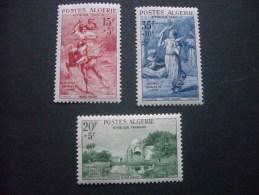 """ALGERIE  *  *  De  1957   """"   Pour  Les  Oeuvres  Sociales  De  L' Armée    """"   N°  346  à  348     3 Val . - Argelia (1924-1962)"""