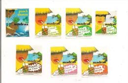 Etiquettes Mignonnettes Madras Ananas Banane Citron Coco Goyave Et Shrubb  - GUADELOUPE - - Rum