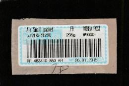 9] étiquette Sur Fragment Label On Piece Corée Du Sud South-Korea Petit Paquet Aerien Air Small Packet - Corée (...-1945)