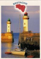 56 -  Carte à Trou Contour Bretagne, BELLE ILE EN MER - Belle Ile En Mer