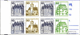 Berlin (West) MH11db (kompl.Ausg.) T-Querstrich Tieferstehend Postfrisch 1980 Burgen Und Schlösser - Berlin (West)