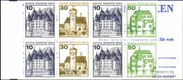 Berlin (West) MH11eb (kompl.Ausg.) T-Querstrich Tieferstehend Postfrisch 1980 Burgen Und Schlösser - Berlin (West)