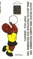VANUATU JEUX PACIFIQUE SUD NETBALL VOLLEY 1993 30U SC5 SUPERBE - Vanuatu