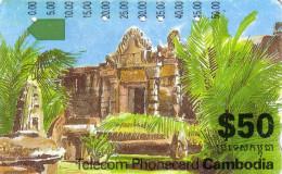 CAMBODGE CAMBODIA TEMPLE TAMURA ICM 3-2-3 50$ UT TRACES USURES - Cambodia