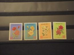 FORMOSA-TAIWAN - 1969 ROSE 4 Valori - NUOVI(++) - Unused Stamps