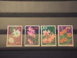 FORMOSA-TAIWAN - 1964 FIORI 4 Valori - NUOVI(+) - 1945-... République De Chine