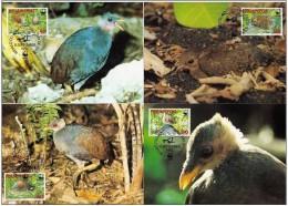 Tonga Niuafo'ou 1992 Yvertn° 175-78 (°) Used CM MK Cote 12,50 Euro Faune Oiseaux Vogels Birds - Tonga (1970-...)