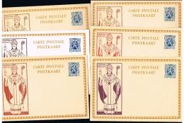 BR15 Carte Illustrée 17 Cardinal Mercier, La Série De 6 Cartes Neuves - Ganzsachen