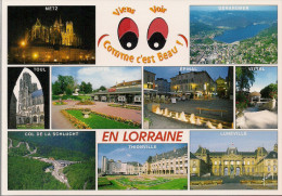 54 - 57 - 88 -  Carte à Trou, LORRAINE (Lunéville, Toul, Metz, Gérardmer, Epinal, Vittel, Baccarat, Thionville, Schlucht - Lorraine