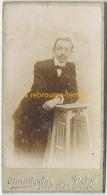 Format Mignonnette CDV 4,2 X 8cm-portrait D´un Homme -photo Chamberlin à Paris - Photos
