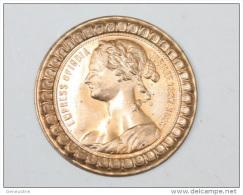 """Ebauche De Cuivre De Jeton """"Reine Victoria - Empress Of India - Jubilee 1837-1887"""" Queen Victoria Token - Indes - Royal/Of Nobility"""