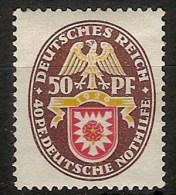 Alemania Imperio 425 * Foto Exacta. 1929. Charnela - Ongebruikt