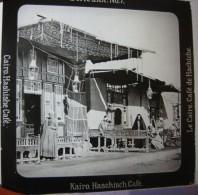 Pre-1914, Le Caire / Cairo : Café De Hachiche - Egypte / Animée - Glasdias