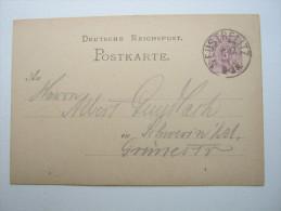 1877, Ca., NEUSTRELITZ , Klarer Stempel Auf Ganzsache - Mecklenburg-Schwerin