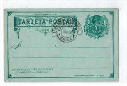 "Obl "" VALPARAISO  "" 1898 Sur Entier - Chili"
