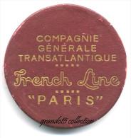 COMPAGNIE GENERALE TRANSATLANTIQUE MEDAILLE FRENCH LINE PARIS - Professionali / Di Società